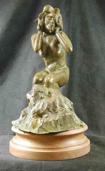 Les non-dits  - 3500 € - Bronze numéroté - 27 x 14 x 15 cm